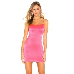 Alice and Olivia NWT Nelle neon pink mini dress